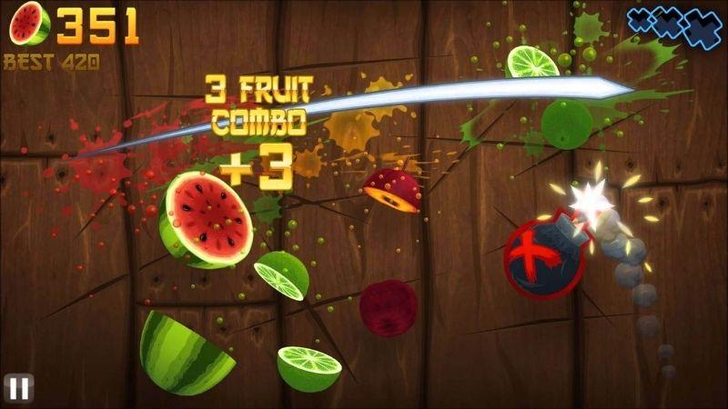 Fruit Ninja - Một trong những tựa game mobile huyền thoại xuất hiện đầu tiên