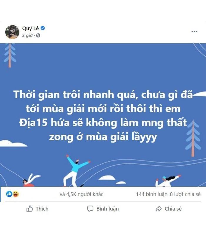 Mới đây, Dia1 đã đăng tải một dòng trạng thái trên trang Facebook cá nhân với nội dung có tính chất gây hoang mang dư luận khiến người đọc phải đặt câu hỏi Dia1 được Garena unban rồi sao?