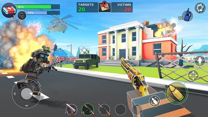 Pixel's Unknown Battle Ground - Game Battle Royale đồ họa Pixel
