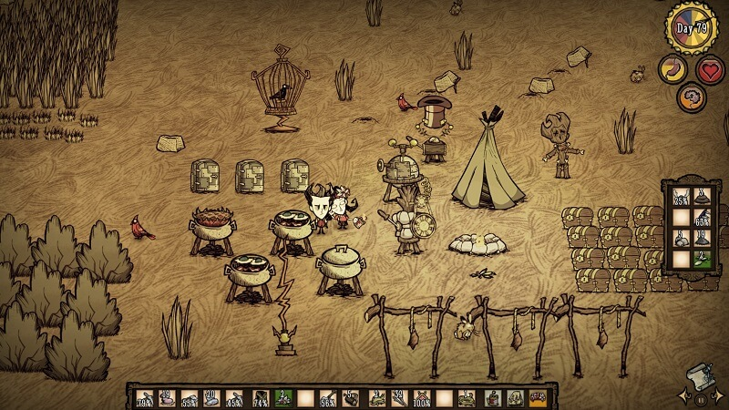 Don't Starve - Game sinh tồn mobile 2D