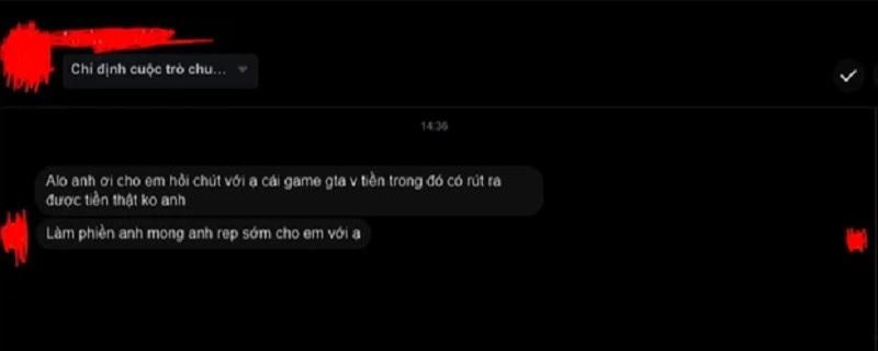 Đoạn trò chuyện của anti-fan gửi đến PewPew sau buổi livestream GTA