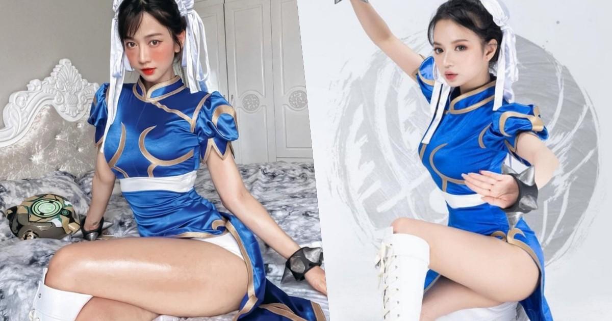 Cosplay Chun Li của Free Fire, các nữ streamer gây xôn xao vì vòng 3 đốt mắt