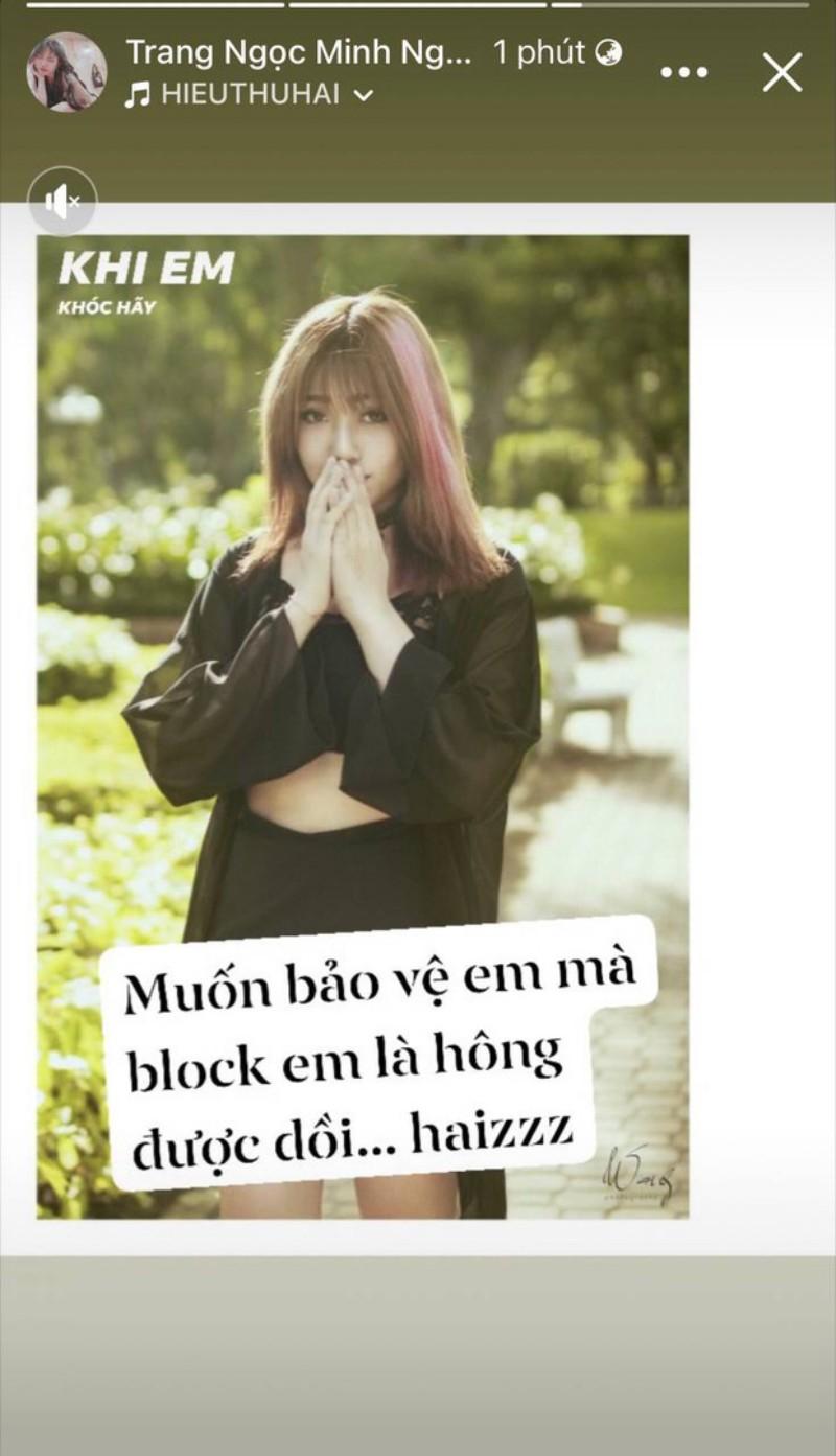 Bài đăng của Lương Minh Trang sau khi bị vinh Râu block