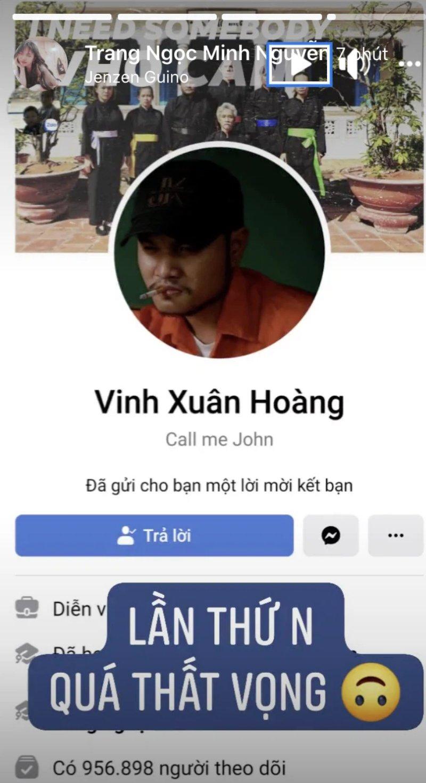 Vinh Râu lại gửi lời mời kết bạn sau khi chặn facebook vợ cũ Lương Minh Trang