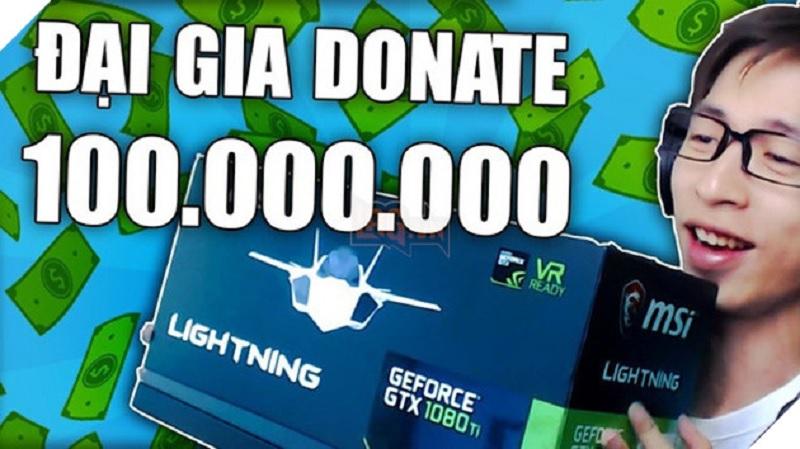 ViruSs được donate 100 triệu