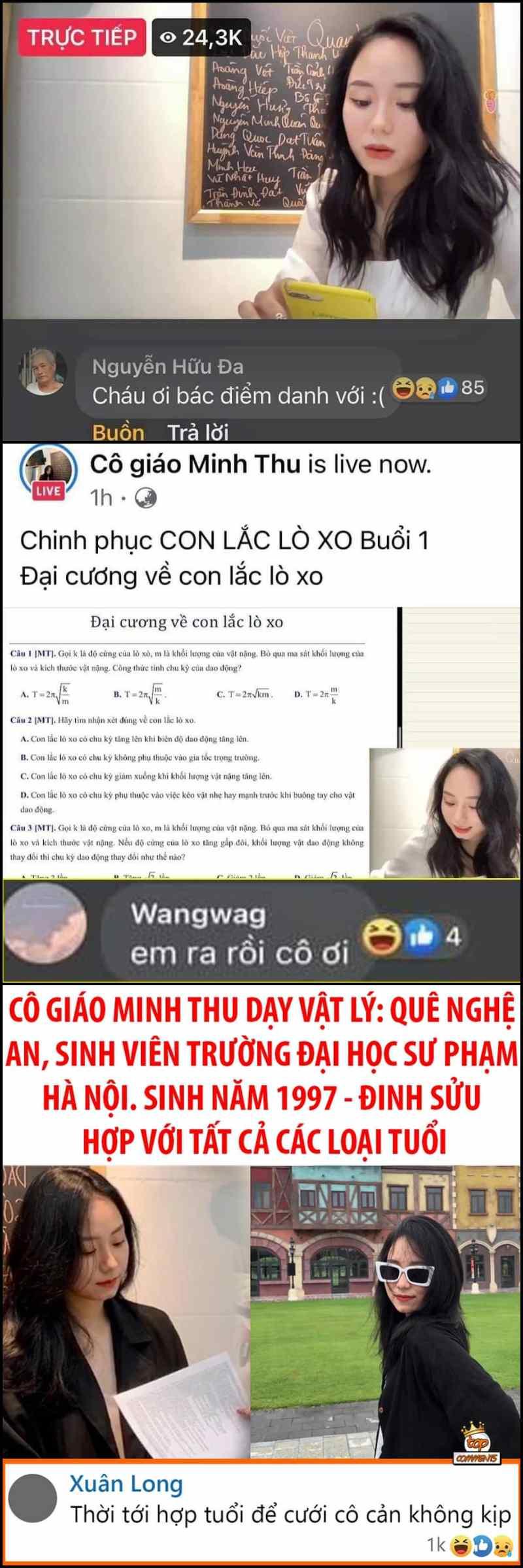 """Các """"học trò"""" từ mọi độ tuổi khác nhau đều vào xin đăng ký học lớp livestream cô Minh Thu"""