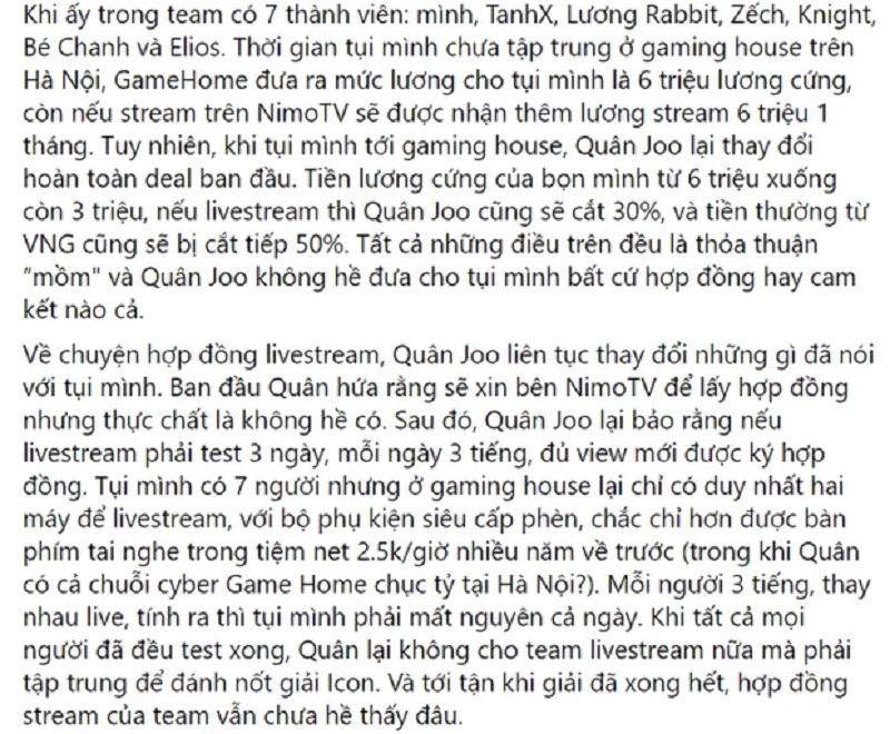 Ông chủ GameHome Esports sống lỗi, cùng với Bé Chanh quỵt tiền giải