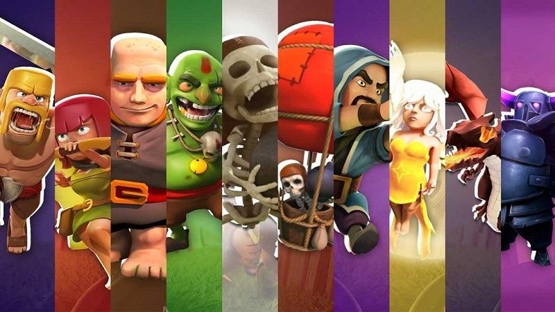Các loại lính trong game Clash of Clans