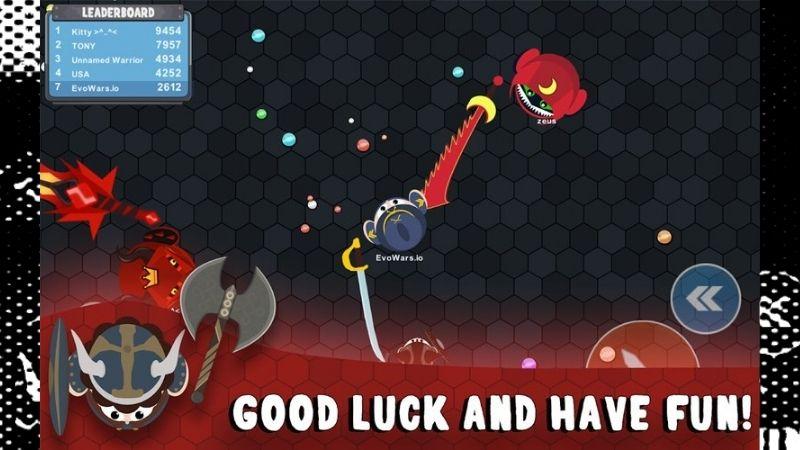 gameplay của trò chơi EvoWars