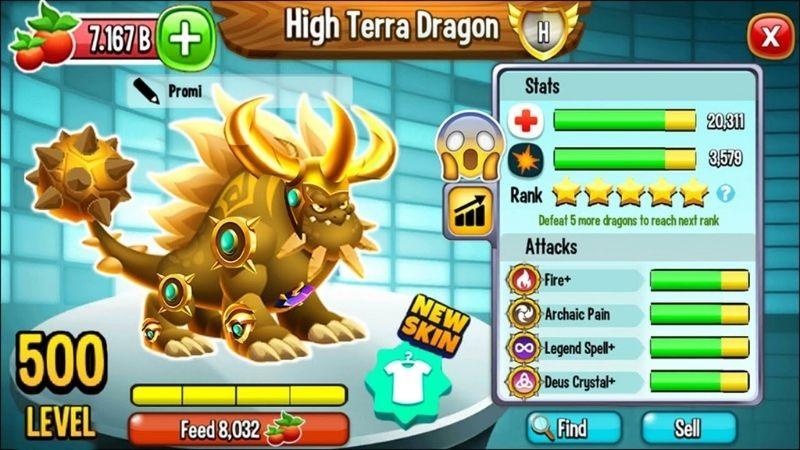 Nâng cấp rồng trong Dragon City