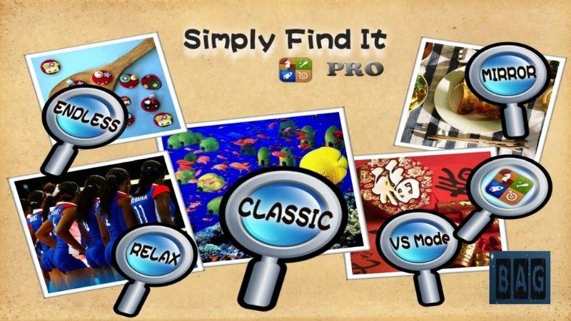 Game tìm điểm khác nhau Simply Find It Pro