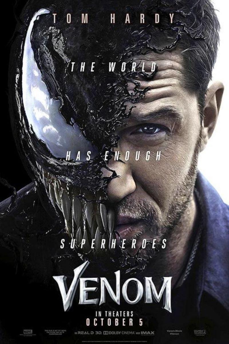 Poster Venom phần 1 năm 2018