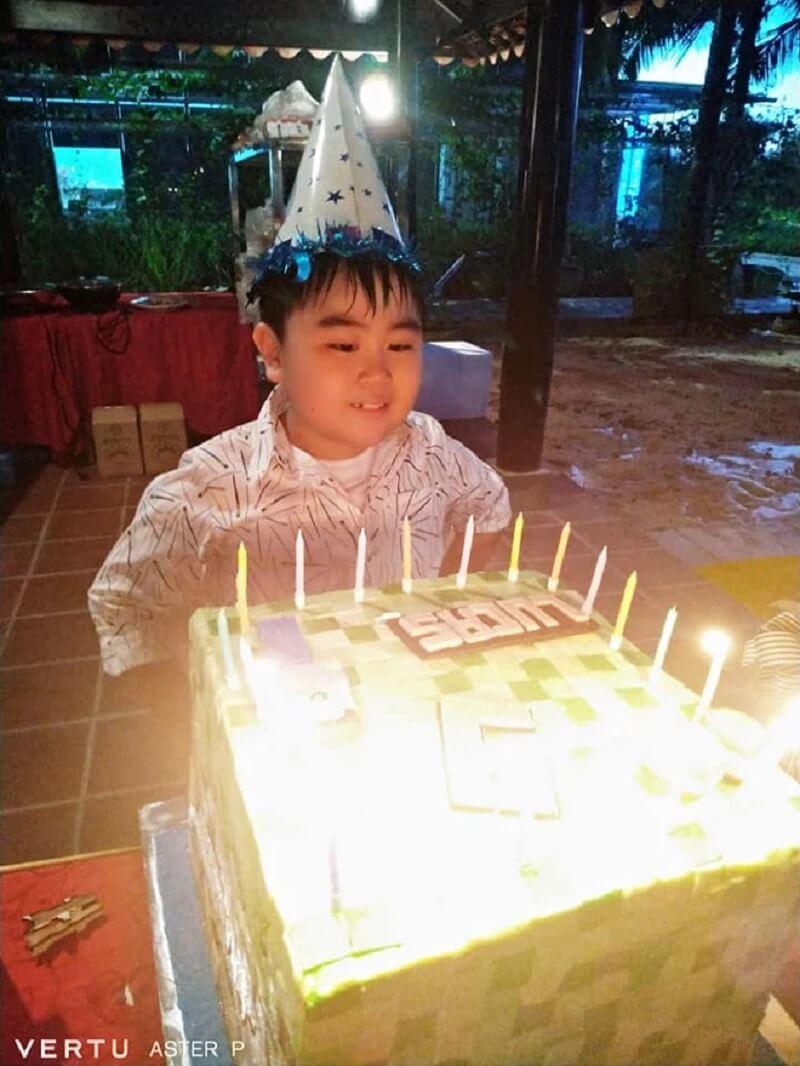 CEO Phương Hằng tặng bánh sinh nhật Minecraft cho con trai Lucas Huỳnh