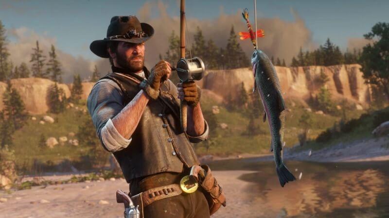red dead redemption 2 với lối chơi có chiến đấu căng thẳng, có thư thả với thiên nhiên tuyệt vời.