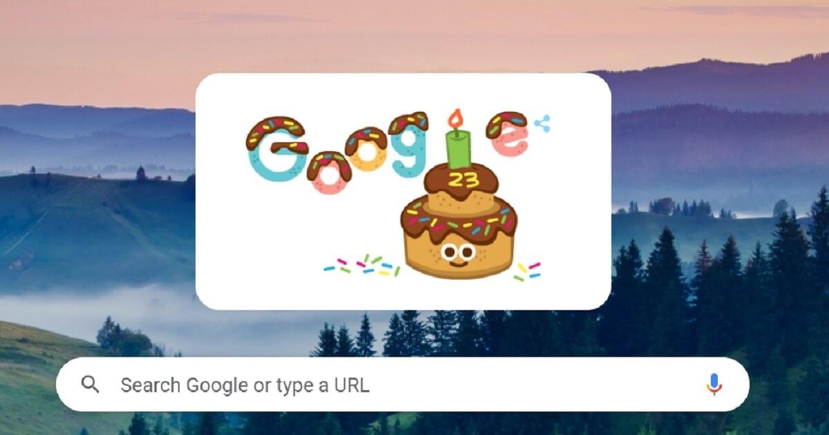 Sinh nhật Google lần thứ 23 trên Google Doodle - Toàn cõi mạng được dịp chúc mừng
