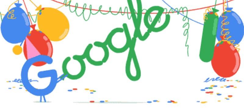 sinh nhật google lần thứ 18