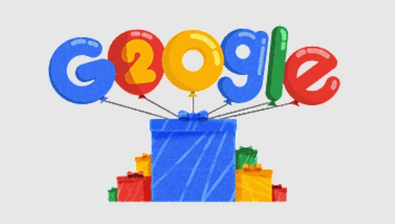 Sinh nhật Google lần thứ 20