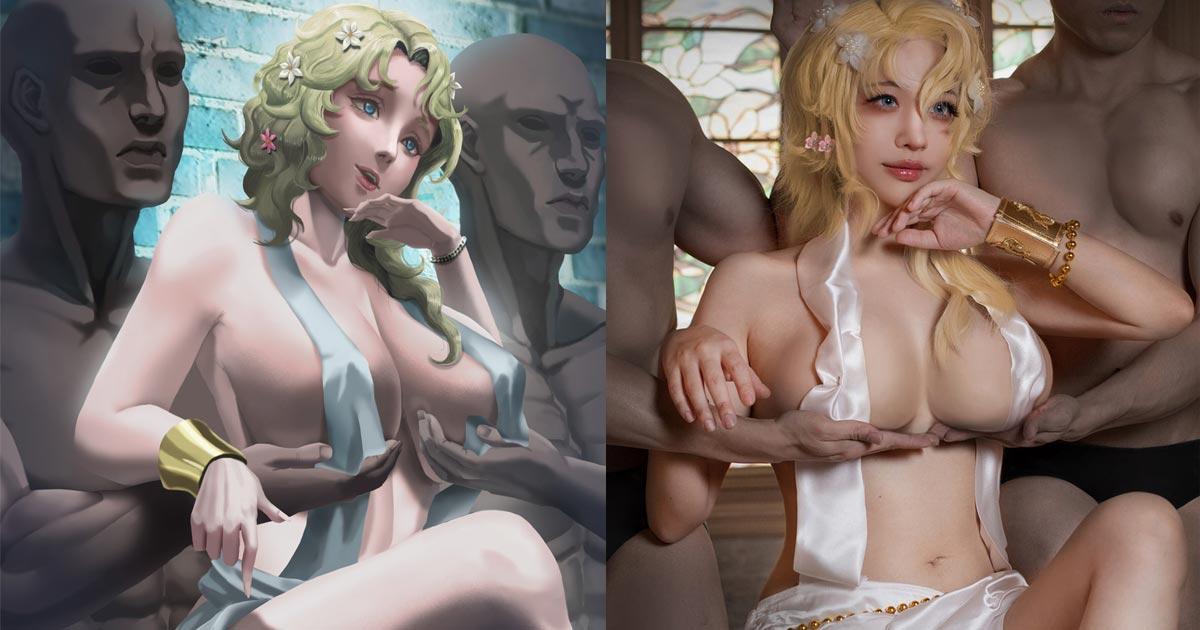 thả rông cosplay Aphrodite khiến fan đỏ mặt với vòng 1 che như không