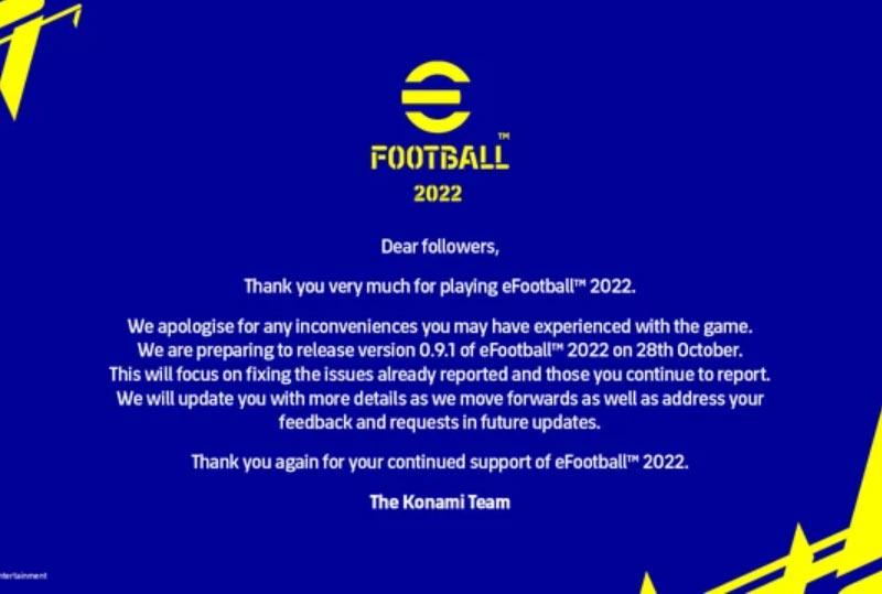 Thông tin cập nhật eFootball 2022