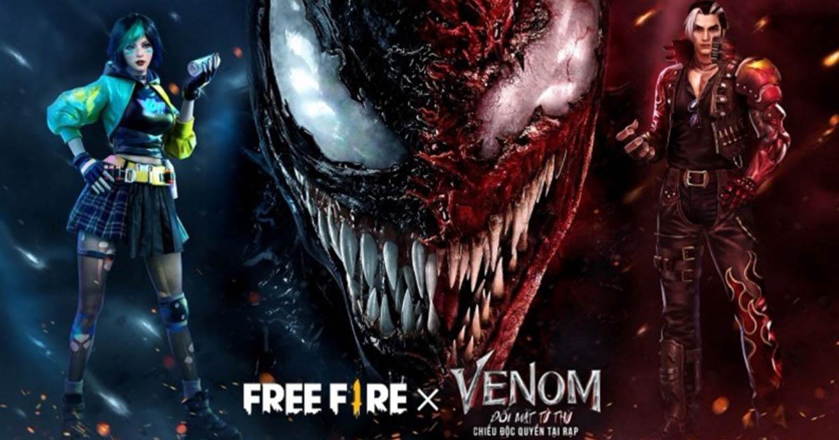 Free Fire x Venom: Một sự kiện kết hợp phim bom tấn siêu hot
