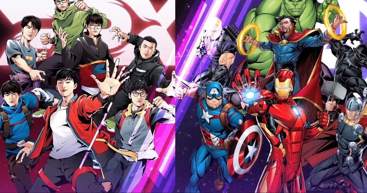 Funplus Pheonix x Marvel sự kết hợp chào mừng CKTG
