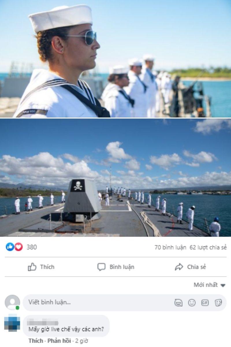 Dân mạng vào cà khịa các anh Hải quân Mỹ sau vụ hack fanpage