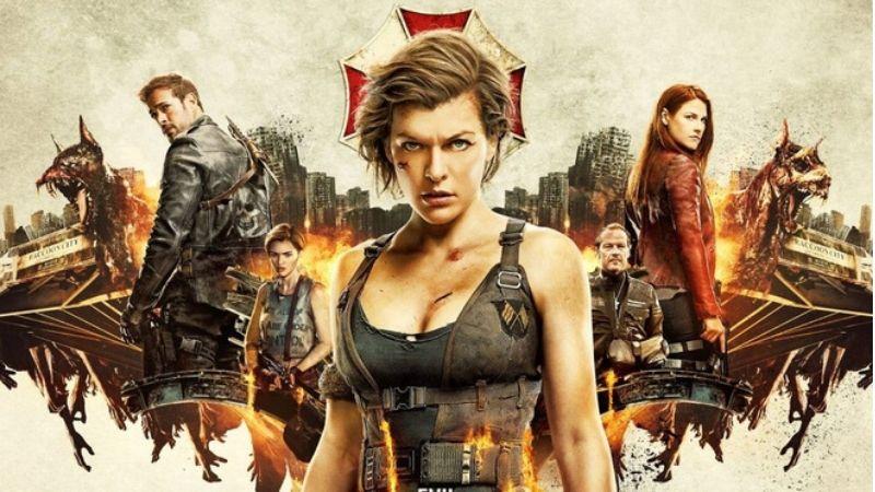 Poster các phần phim trước của Resident Evil