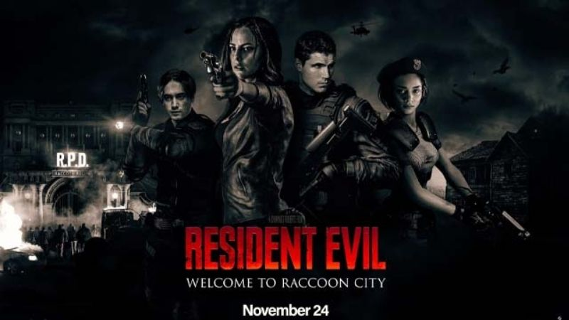 poster quảng bá phim Resident Evil: Welcome to Raccoon City
