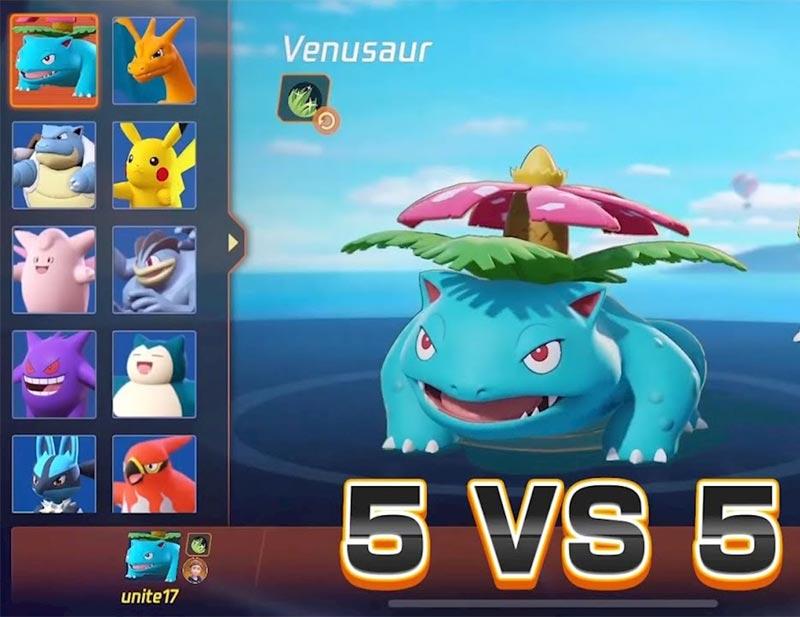 Game đối kháng trực tuyến Pokemon